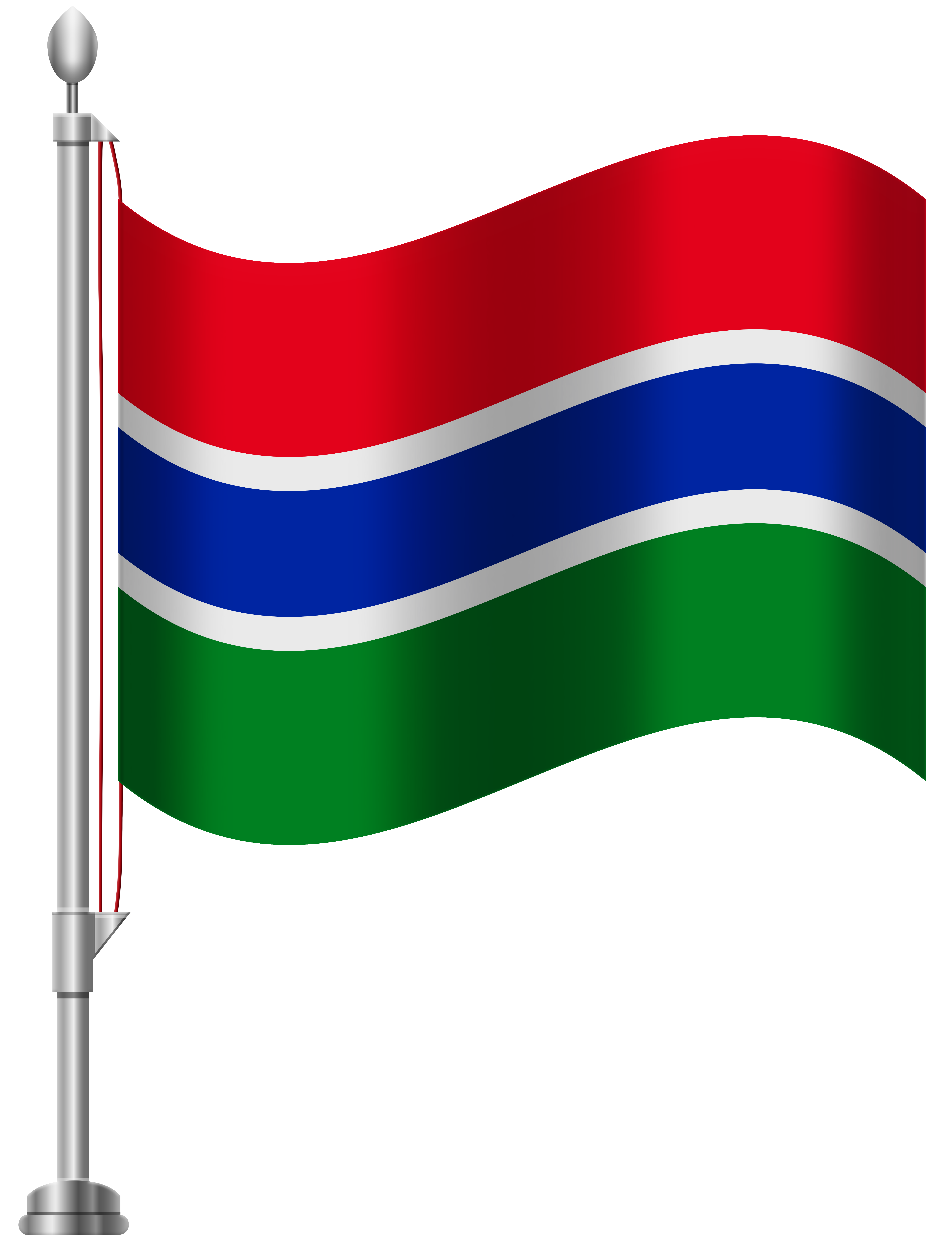 Gambia Flag PNG Clip Art.