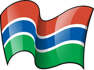 Gambia Flag Clipart.