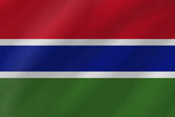 The Gambia flag clipart.