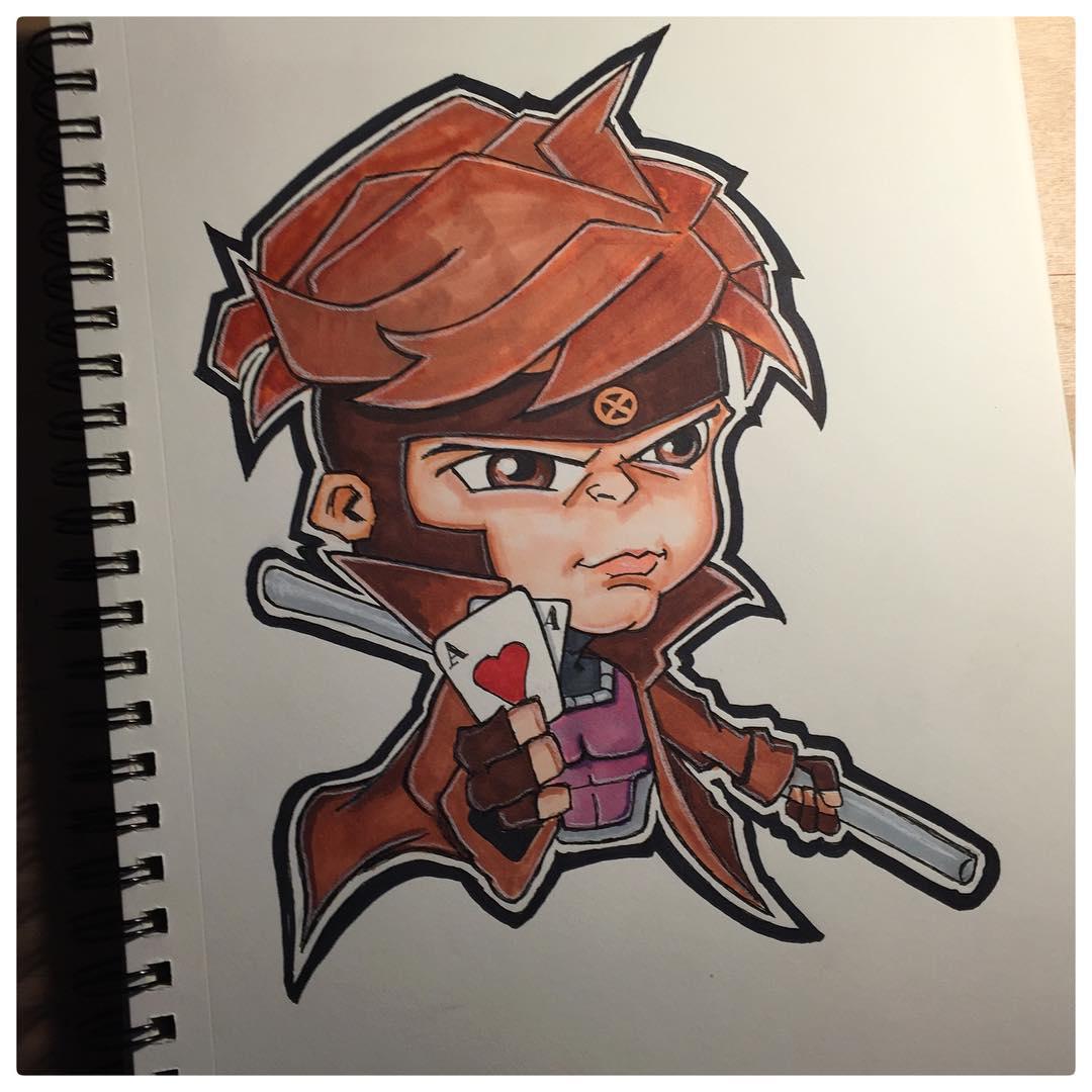 Gambit Cartoon.