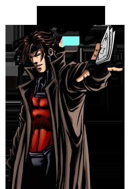Gambit X Men Clipart.