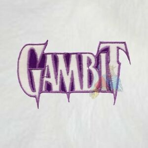 Details about Gambit Logo Embroidered Patch Marvel Comics Magneto Xavier  School Cyclops X.