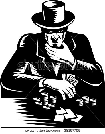 Gambler Top Hat Playing Card Game Stock Illustration 38197741.