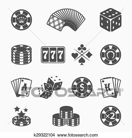 Gambling icons Clipart.