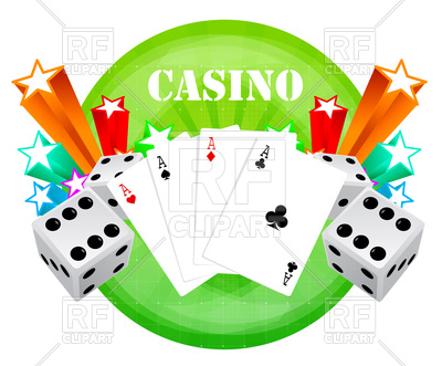 Gambling backdrop with casino elements Vector Image.