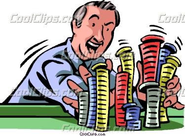 Gambling chips clipart.
