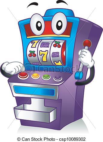 Vector Clipart of Slot Machine Mascot.