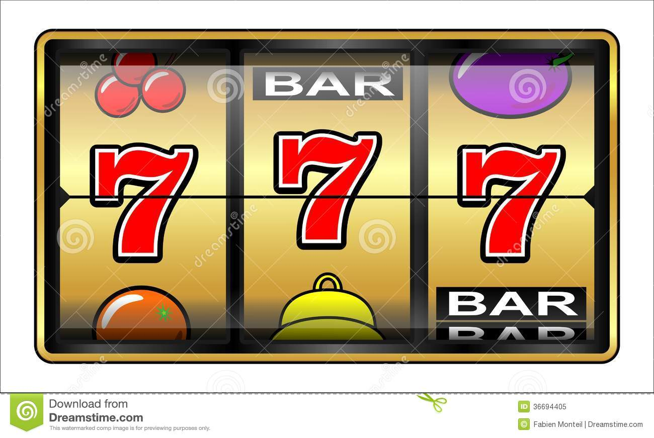 777 Slot Machine Clipart.