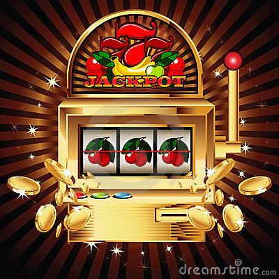 Slot Machine Stock Illustrations.