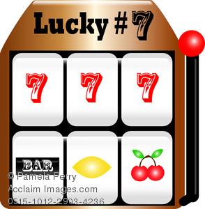 Clip Art Image of a Slot Machine.