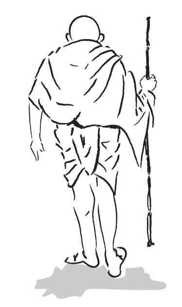 Mohandas Gandhi Clip Art.