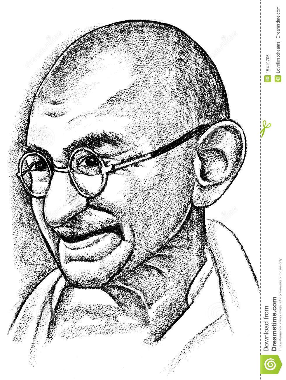 Gandhi clipart.