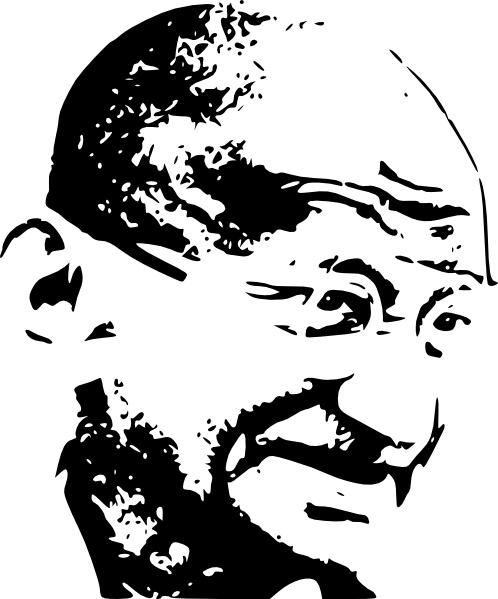 Mahatma Gandhi clip art Free vector in Open office drawing svg.