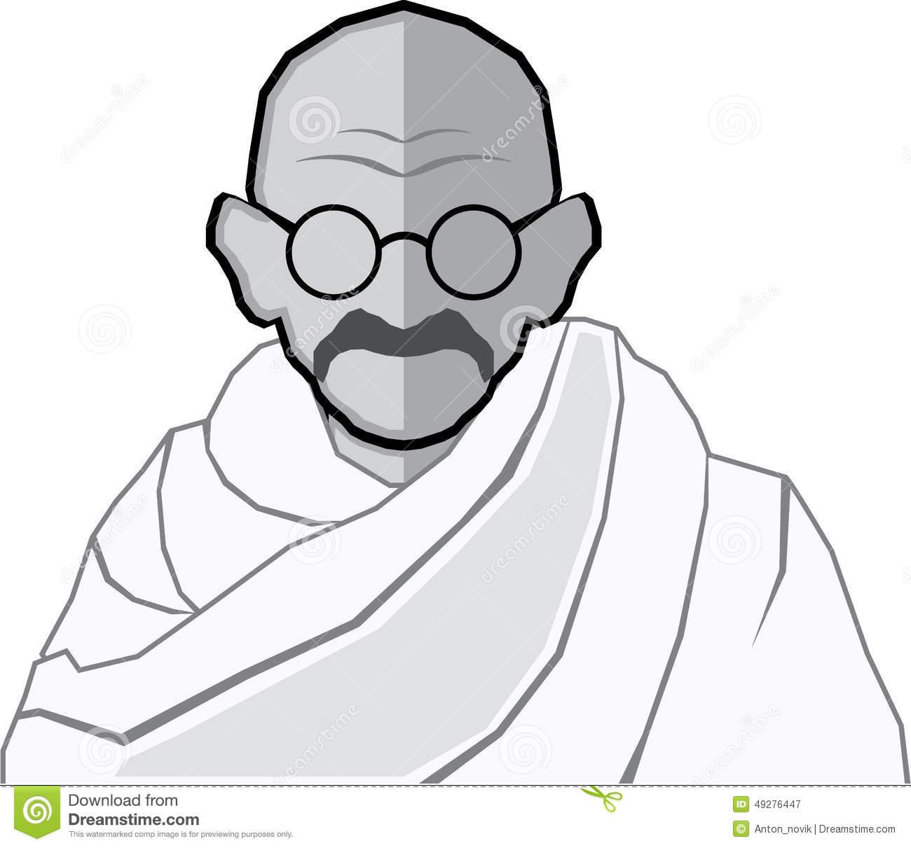 Gandhi Stock Illustrations.