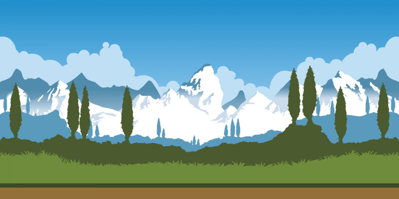 Mountain Game Background.