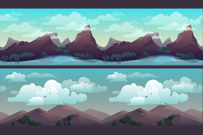 Parallax Horizontal Game Backgrounds (Free).