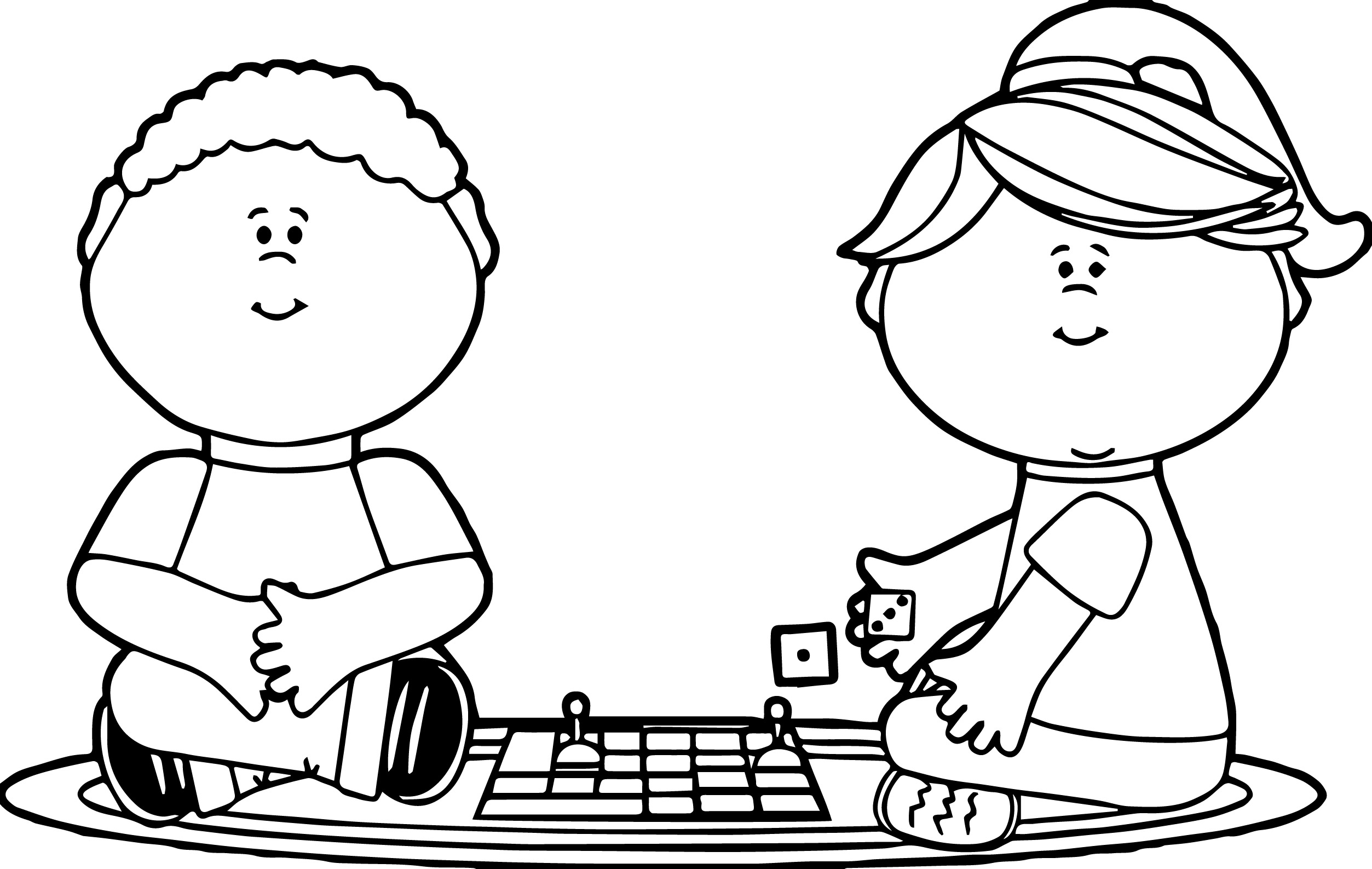 Board Game Clipart Black And White.
