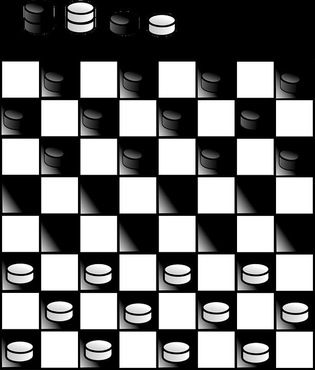 Free vector graphic: Checker, Board, Black, Game.