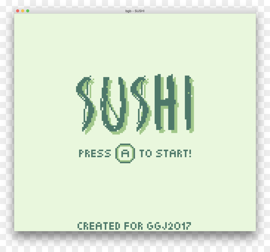 Game Boy Advance Logo Sushi.