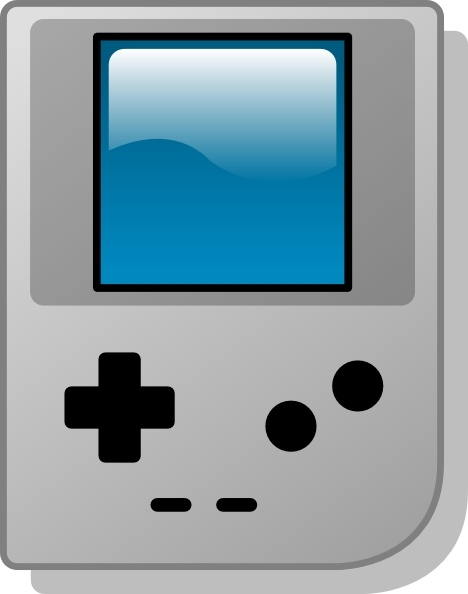 Gameboy Pocket clip art Free vector in Open office drawing svg.