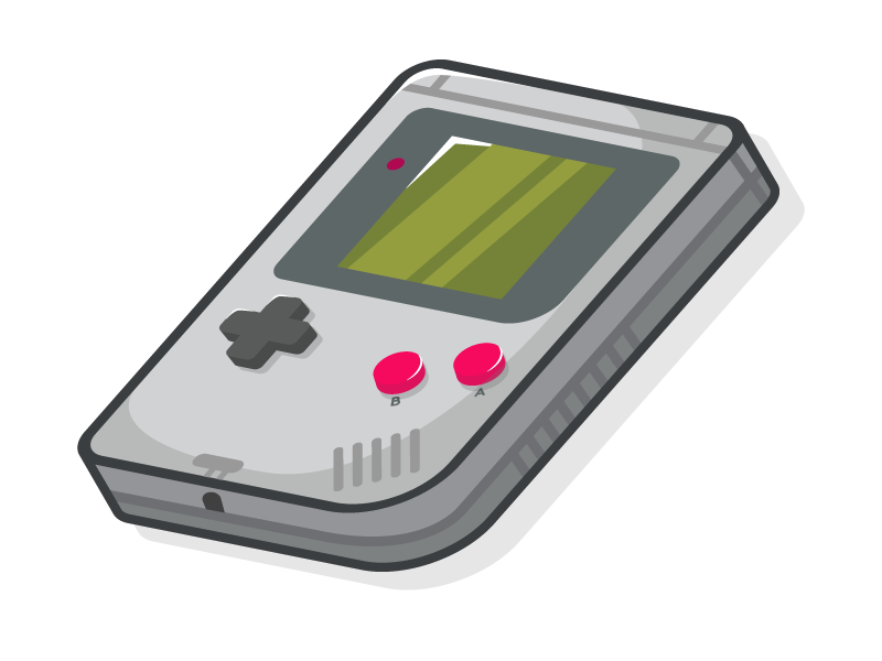 Gameboy Logo / Illustration by Shard on Dribbble.