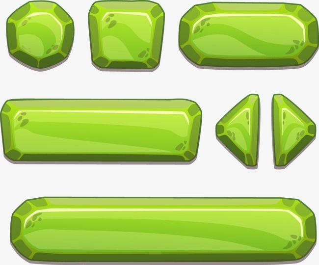 Cartoon Buttons Vector Material, Push Button, Cartoon Elements.