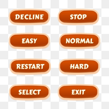 Game Buttons PNG Images.