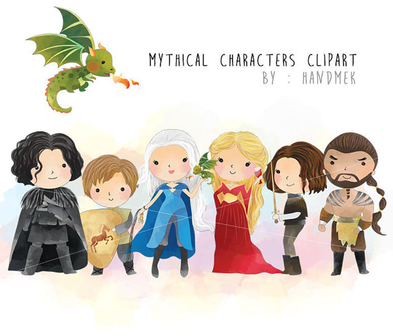 Game of thrones characters clipart.