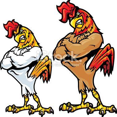 Fighting Chicken Clipart.