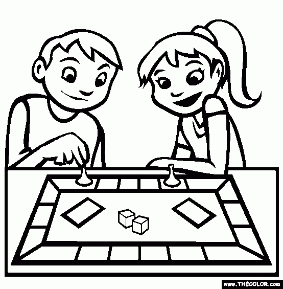 28+ Collection Of Board Games Clipart Black And White.