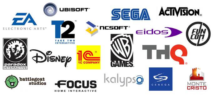 THIS ARTICLE OFFERS A BRIEF HISTORY OF GAME COMPANY LOGOS.