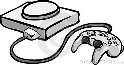 Video Game Console Clipart.