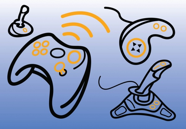Game Consoles Vectors Free vector in Adobe Illustrator ai ( .ai.