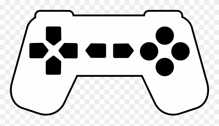 Game Controller, Art Deco, Outline.