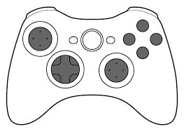 Video Game Controller Clipart Black And White.