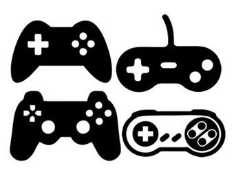 game controllers svg dxf file instant download silhouette cameo.