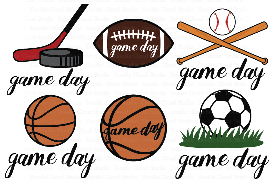 Game Day SVG, Sport Ball SVG, Game Day Clipart. Football..
