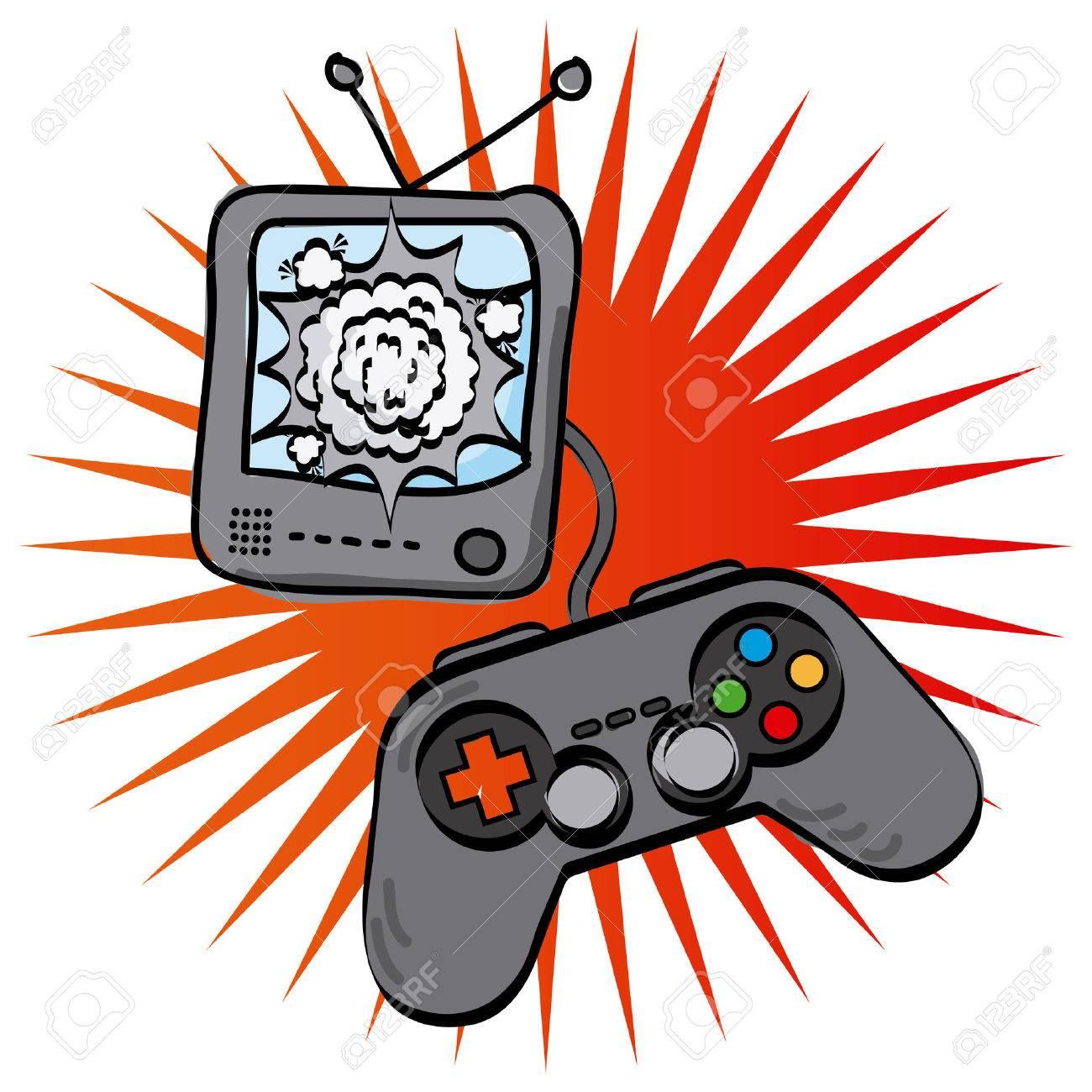video games design, vector illustration.