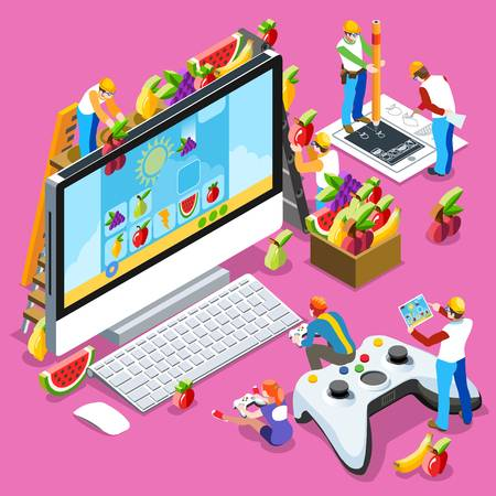 16,467 Game Development Stock Vector Illustration And Royalty Free.