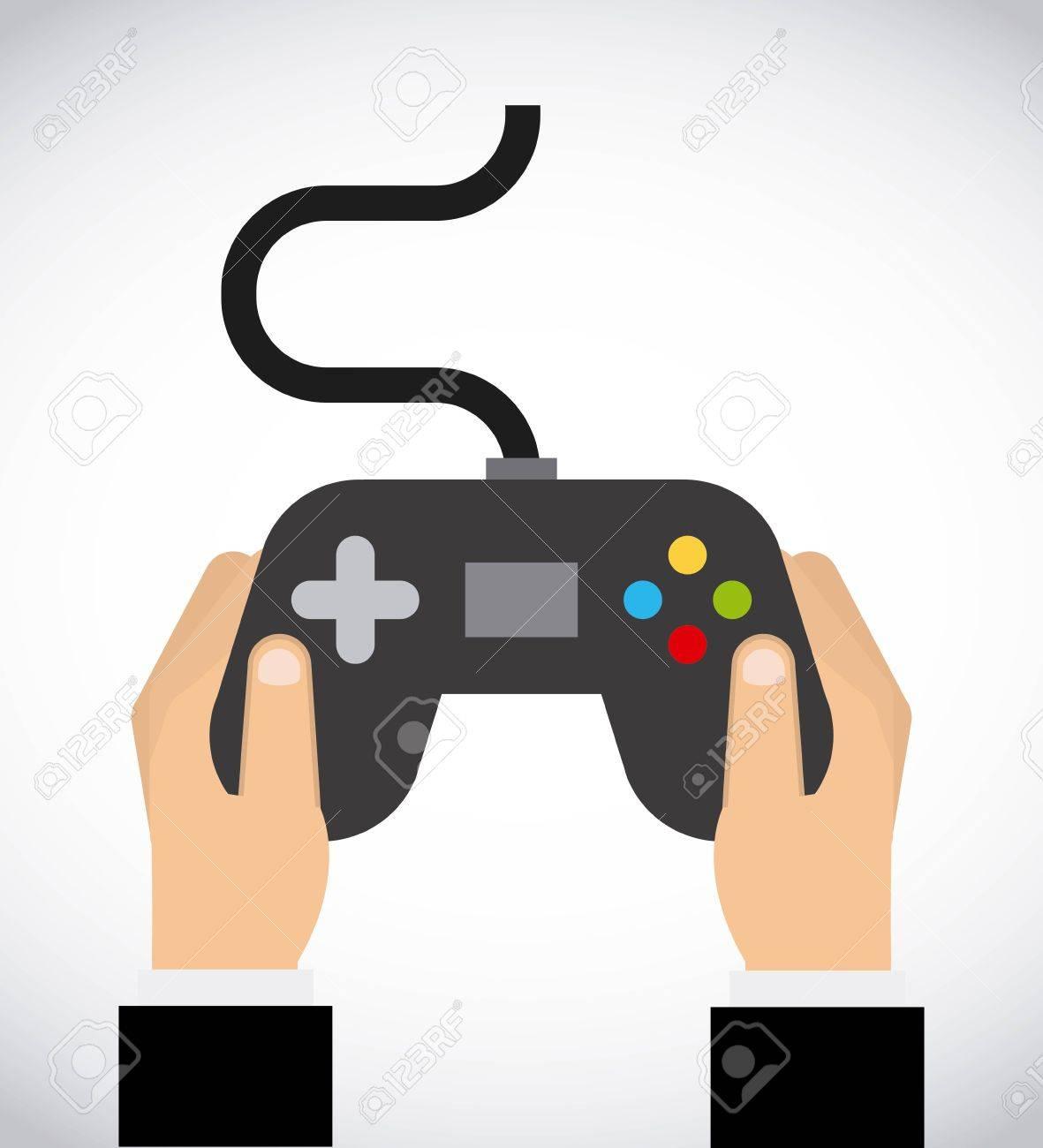 Video game design over white background, vector illustration.
