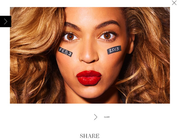 Beyonce has game face on amid Super Bowl halftime speculation.
