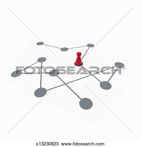 Stock Photo of Game figure on a symbolic game board x13230823.