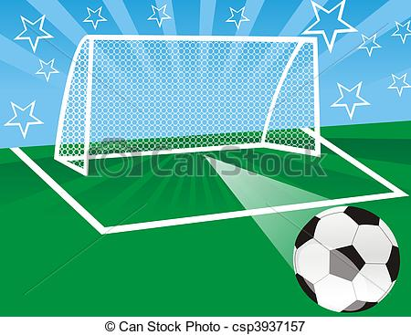 Stock Illustrations of Soccer Game.