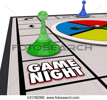 Clip Art Of Game Night Family Time Fun Competition Board Pieces
