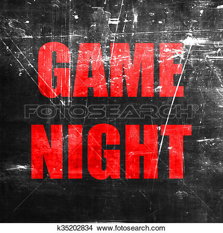 Drawings of Game night sign k35202834.