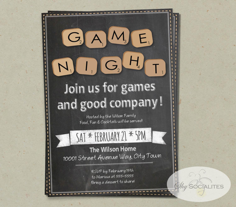 Game Night Invitation Clipart.
