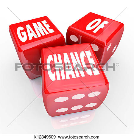 Stock Illustration of Game of Chance Three Red Dice Risk and.