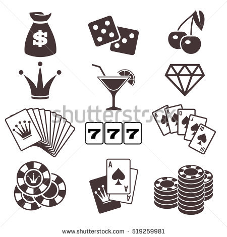 Gambling Poker Card Game Casino Luck Stock Vector 469729532.