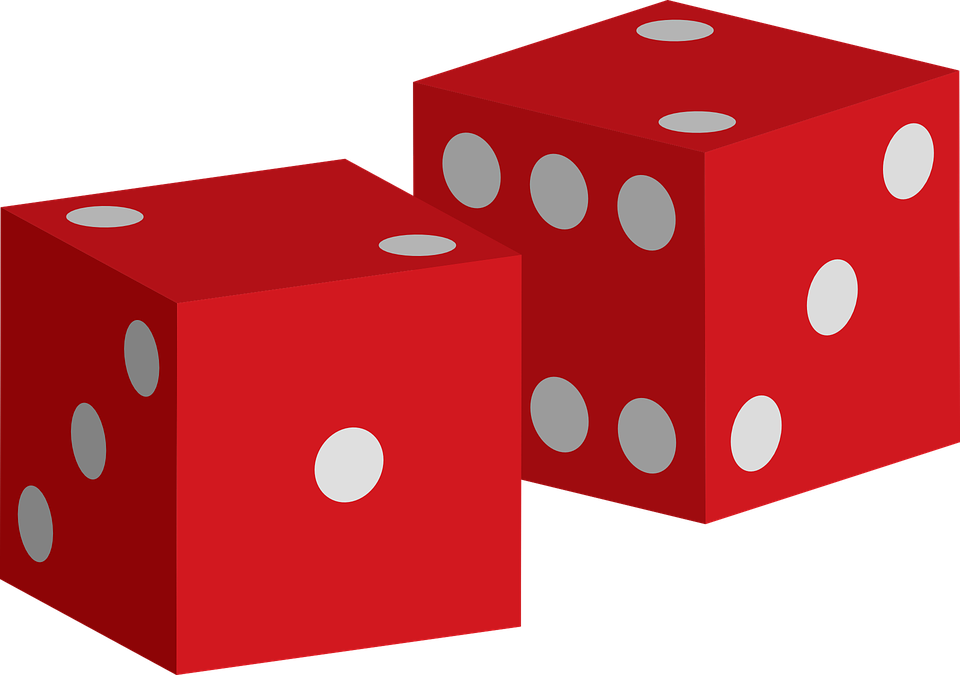 Free vector graphic: Dices, Red, Game, Luck, Gambling.