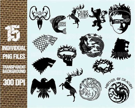 15 Game of thrones element Clipart Digital Graphic by Room25Days.